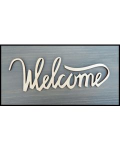 "WS1603 Welcome Sign 10"" wide x 3 3/8"" tall"