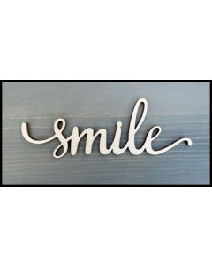 """WS2002 Scroll Smile Sign 8"""" wide x 2 3/4"""" tall"""