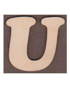 Laser cut Letter U