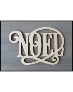 "WS2253 Scroll Noel Sign 8"" wide x 5 3/8"" tall"