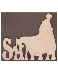 Laser cut Santa Sign from Jamie Mills-Price Christmastime 7