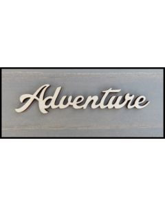 """WS2653 Adventure Sign 8"""" wide x 1 3/4"""" tall"""