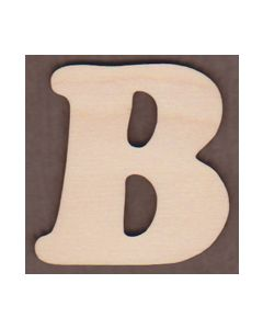 Laser cut Letter B