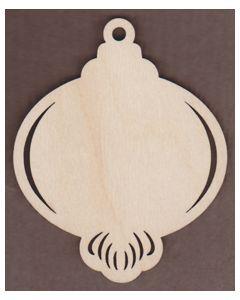 "WT2647-Laser cut Ornament-Bottom Scroll-Fancy-4"" x 5"""
