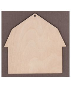"WT6003-Hip Barn Ornament 4 1/8"" wide x 4"" tall"