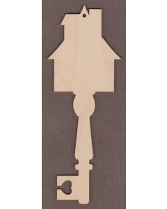 "WT6009-Decorative Key-Mansion 2 3/4"" wide x 7 1/8"" tall"