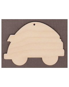 "WT6016-Camping Trailer Ornament 3 7/8"" wide x 2 3/4"" tall"