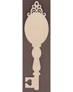 WT 2673 Laser cut Decorative Key-Scroll Oval