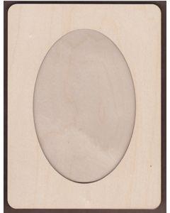 WT2685-Laser cut Oval Frame Kit-2 Piece