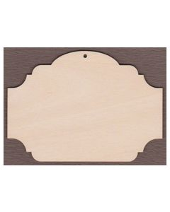 """WT9063 Laser cut Sign Plaque #3--5"""" tall x 7"""" wide"""