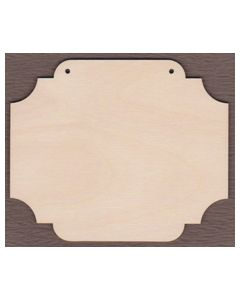 """WT9072 laser cut Sign Plaque #4--4"""" tall x 4 3/4"""" wide"""