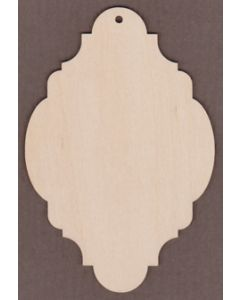 """WT9083 Laser cut Sign Plaque #5--6"""" tall x 4"""" wide"""