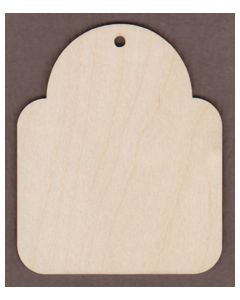 "WT9094-Laser cut Christmas Gift Tag #1--4 7/8"" tall x 4"" wide"