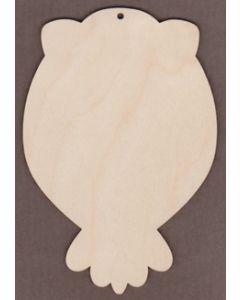 """WT9206-Laser cut Owl-6"""" tall x 4"""" wide"""