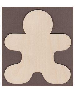 """WT9328-Laser cut Gingerbread Man-4 1/2"""" tall x 4"""" wide"""