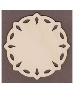 WT9359 Diamond Circle Snowflake-4""