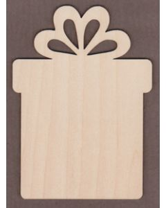 "WT9380-Square Gift Box Ornament-4 1/8"" tall x 3"" wide"