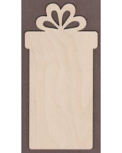 """WT9390-Tall Gift Box Ornament-8"""" tall x 4"""" wide"""