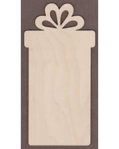 """WT9391-Tall Gift Box Ornament-10"""" tall x 5"""" wide"""