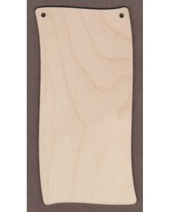 "WT9400-Wavy Banner Plain-3"" tall x 1 1/2"" wide"