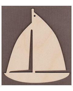 """WT9438-Sail Boat Ornament-4 3/4"""" tall x 4 1/8"""" wide"""