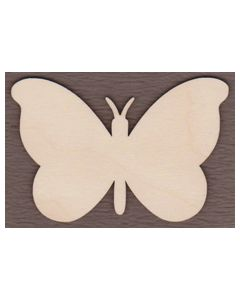 "WT9442-Butterfly With Antenna-1 1/4"" wide x 3/4"" tall"
