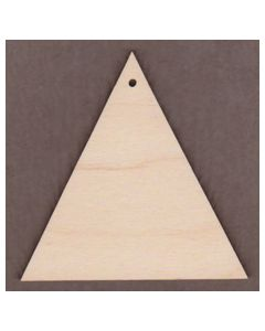 "WT9468-Triangle with 1 Hole-3"" tall x 3"" wide"