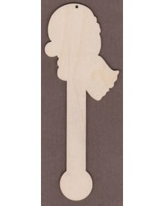"WT7017-Laser cut Thermometer Ornament-7"" tall x 2 5/8"" wide"
