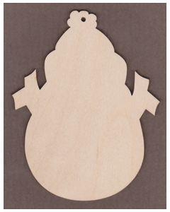 """WT6027- Snowzie Snowman 4"""" wide x 5 1/4"""" tall"""