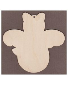 "WT7000-Laser cut Roly Poly Ornament-5 3/8"" tall x 5 1/2"" wide"