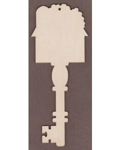 "WT6011-Decorative Key-Barn 3"" wide x 7 1/4"" tall"