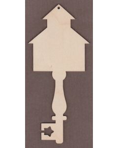 "WT6012-Decorative Key-Country School 3 1/4"" wide x 7 1/4"" tall"