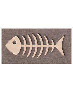 """WT5074 Bony Fish  6"""" wide x 2 1/2"""" tall"""