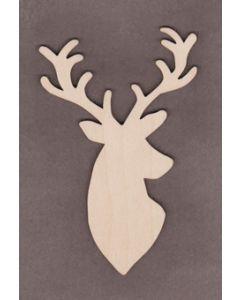 "WT9521 Christmas Deer #2-5"" tall x 3 1/4"" wide"