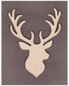 "WT9452-Deer-5"" tall x 3 7/8"" wide"