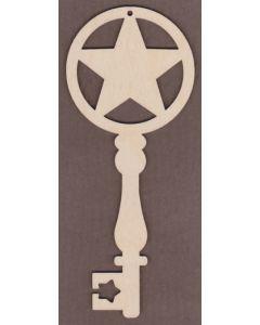 WT2732-Laser cut Decorative Key-Star Circle