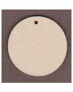 "WT1347-1 3"" Circle with 1 Hole. Laser cut wood circle."
