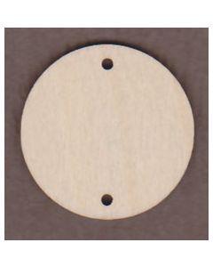 """WT1344-4 Circle With 2 Holes-1 1/4"""" circle"""