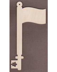 WT2733-Laser cut Decorative Key-Flag
