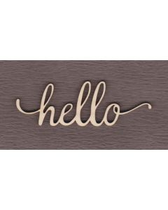 "WS2702 Hello Sign 6"" wide x 2 1/16"" tall"