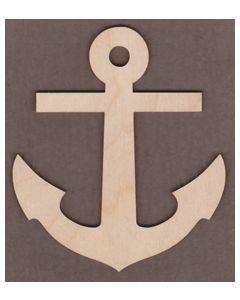 "WT9422-Anchor Ornament-4"" tall x 3 1/2"" wide"