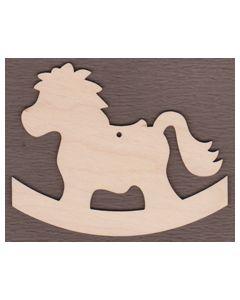 "WT9398-Rocking Horse Ornament-4 3/4"" tall x 6"" wide"
