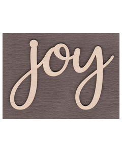 """Laser cut Wood Words Canada. WS2502 Joy Sign 6"""" wide x 4 1/8"""" tall"""