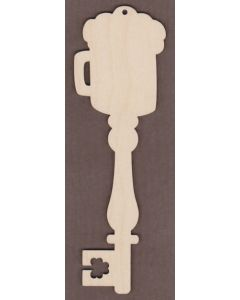 WT2746-Laser cut Decorative Key-Beer Mug