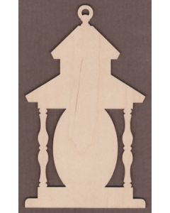 "WT3080-Laser cut Oval Country Lantern-4"" x 6 3/8"""