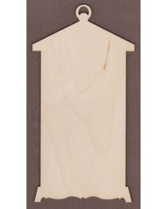 "WT3153-Laser cut Tall Scroll Bottom Lantern-6"" wide x 12"" tall"