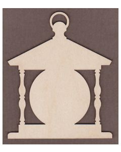 "WT3071-Laser cut Country Lantern-4"" x 4 3/4"""