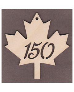 """WT1544-1 Canada 150 Maple Leaf-4"""" tall x 3 7/8"""" wide"""