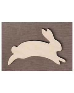 """WT5032 Leaping Bunny Rabbit  8"""" wide x 5 5/8"""" tall"""