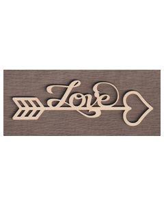 "WS2071 Scroll Love Sign 8"" wide x 3 1/16"" tall"